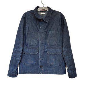 Apolis Selvedge Blue Denim Chore Coat Jacket Sz XS